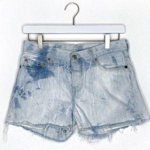 Levi's 501 Bleached Wash cutoff Jean shorts